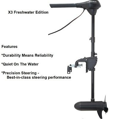 """Motorguide Rugged X3 Trolling Motor-Freshwater-Foot Control Bow Mount-45lbs-45"""""""