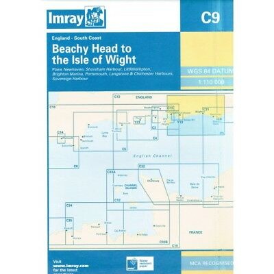 CARTE MARINE IMRAY C9 BEACHY HEAD TO THE ISLE OF WIGHT alciumpeche