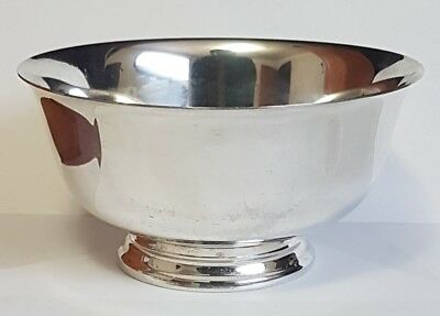 Vintage Sterling Silver Paul Revere Reproduction Bowl - 164 G Solid .925 Silver