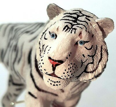 White Bengal Tiger Figurine - Hand Painted Model Toy African - SEE IMAGES!