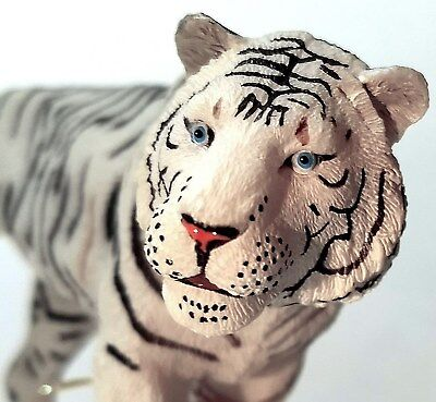 White Tiger Figurine - High Quality Hand Painted Bengal Toy Figure PAPO