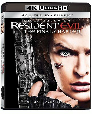 Blu Ray Resident Evil - The Final Chapter (4K Ultra HD + Blu-Ray Disc).....NUOVO