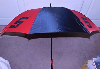 Snap-On Limited Edition Black & Red Paneled Full Canopy Umbrella W/ Tool Handle