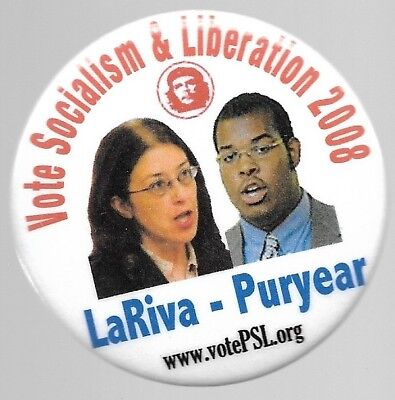 Lariva And Puryear Socialism And Liberation Party, Che Guevara Political Pin
