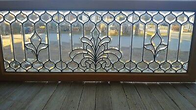 Fancy Victorian Beveled Glass Transom Window