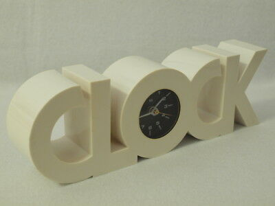 BLOCK CLOCK Design Tischuhr Kunststoff 60er 70er Table Clock 70s Space Age