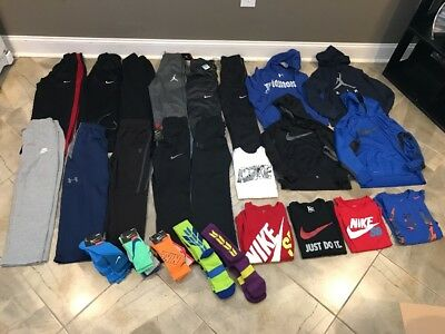 Huge Lot Of Boys Athletic Clothes(Nike/Under Armour/Jordan)-size Medium