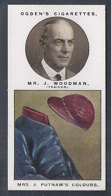 Ogdens-Steeplechase Trainers & Owners Horse Racing Colours-#48- Woodman