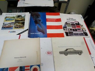 Vintage American Motors Dealer Brochure Lot Nice! Accys AMX Javelin Rebel lot 2
