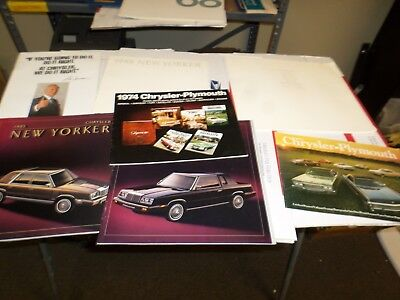 Vintage Chrysler Imperial dealer Brochure lot 7 pcs New Yorker Imperial Newport