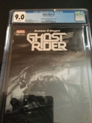 Ghost Rider #1 Marvel, 2017cgc 9.0 Robbie Reyes Dell'Otto Variant Sketch Cover
