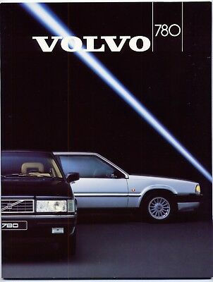 Volvo 780 Bertone Coupe brochure Prospekt, 1987 (German text)