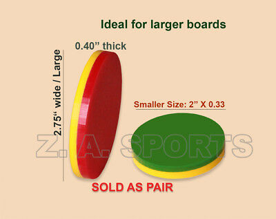 Carrom Board Striker Coins Plastic Disk Sold As Pair, Good For All Size & Level