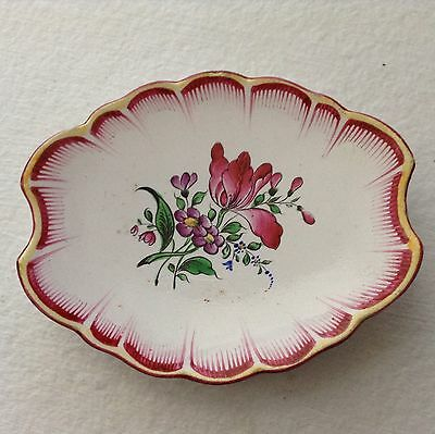 Antique French Faience de L'Est Luneville Butter Pat c.1800's, ff308