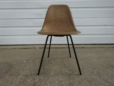 Vintage 50s Mid-Century Modern Herman Miller Eames DSX Shell Chair  1950s X Base
