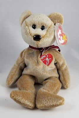 Beautiful MINT Ty 1999 Signature BEAR Retired Beanie Baby Collectible RARE! MWMT