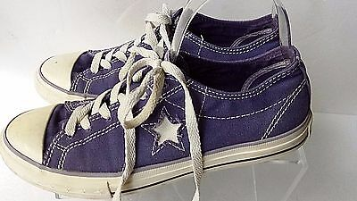 Converse One Star Women's Sz 8.5 Purple Athletic Sneakers Lace-Up Shoes Casual