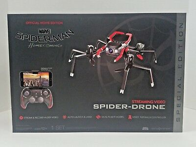 Spider-Man Streaming Spider Drone Red & Black Homecoming Official Movie Edition