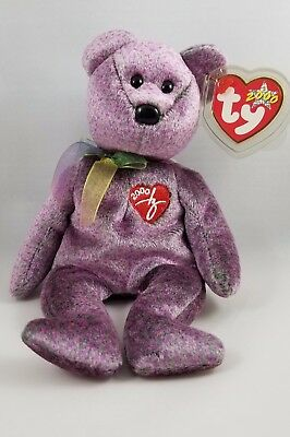 Beautiful MINT Ty 2000 Signature BEAR Retired Beanie Baby Collectible! MWMT