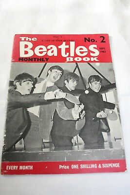 The Beatles Monthly Book Number 2 September 1963 original issue magazine rare no