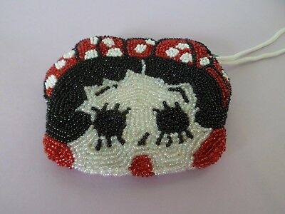 Betty Boop Glass beaded Coin Purse