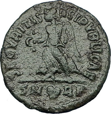 GRATIAN Genuine 367AD Rome Authentic Ancient Roman Coin VICTORY ANGEL i65764