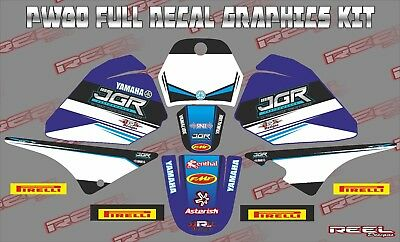 Pw80 Jgr 11 Piece Decals Stickers Graphics Free Name & Number Pw 80 Yamaha