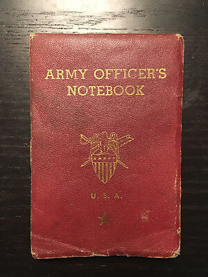 WW2 American Army Officer Notebook, Named, 1941