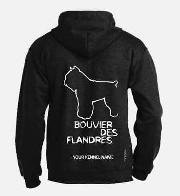 Bouvier des Flandres Full Zipped Dog Breed Hoodie, Exclusive Dogeria Design,