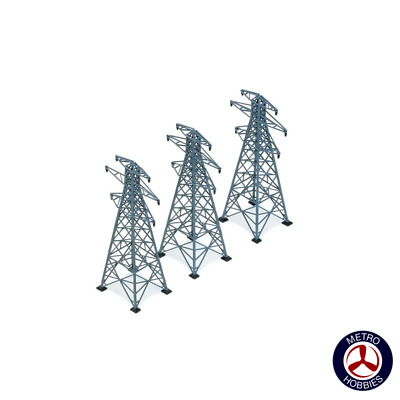 Hornby OO Electric Pylons 207mm (3)* HOR-R530 Brand New