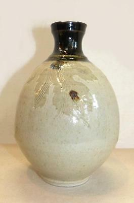 Vintage Japanese Studio Pottery Wine Bottle - Wonderful Unusual Decoration
