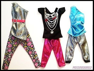 Barbie Doll Clothes 3 Outfits/Clothing/Dress/Evening/Pants/Top/Party/New