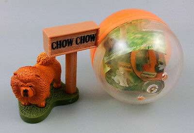 Chow Chow dog animal plastic model Mini Figure