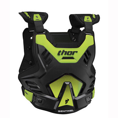 NEW THOR RACING SENTINEL Youth Body Armour BLACK GREEN Chest Protector Motocross