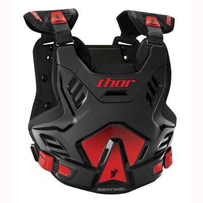 NEW THOR RACING SENTINEL Youth Body Armour BLACK RED Chest Protector Motocross