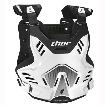 NEW THOR RACING SENTINEL Youth Body Armour WHITE BLACK Chest Protector Motocross