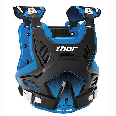 NEW THOR RACING SENTINEL Adult Body Armour BLACK BLUE Chest Protector Motocross