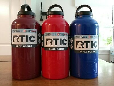 0c256f24b43 NEW RTIC 64OZ Bottle - Black/ Maroon/ Red/ Blue/ Stainless - $29.95 ...