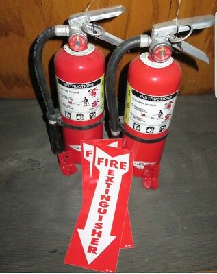 SET OF 2 5lb ABC  Fire Extinguishers  W/ TAG. WOW!!! WHAT A DEAL