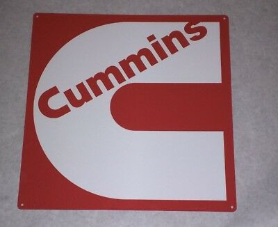Cummins Diesel Sign Turbo Truck Mechanic Garage Shop Red White 12x12 50052