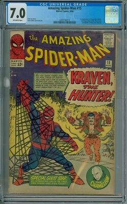 Amazing Spider-Man #15 - CGC Graded 7.0 - 1st Appearance Of Kraven The Hunter