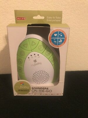 myBaby SoundSpa On-The-Go Sound Machine, Green, Small by homedics