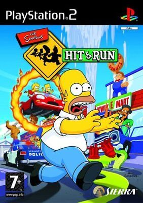 SIMPSONS HIT N RUN Sony Playstation 2 PS2 Game PAL + Booklet