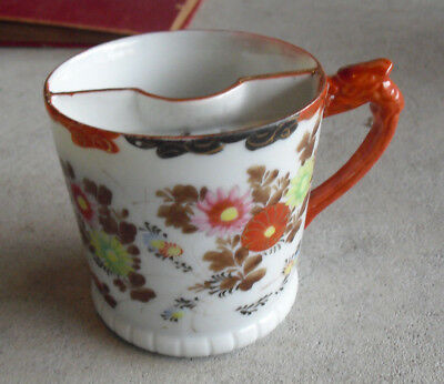 Antique Painted Flowers Mustache Shaving Mug Look