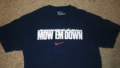 "Mens Nike ""MOW EM DOWN"" T-Shirt Size XL Loose Fit Black White Red NICE!!"