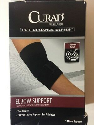 6755664eed Curad Performance Series Elbow Support Medium Neoprene Sleeve w/Strap NEW
