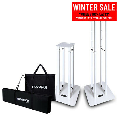 Novopro PS1XL Variable Height Podium Stand (Single) with 2 Different Scrims