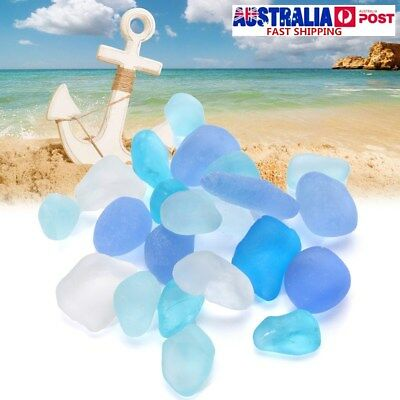 200Pcs 10-16mm Sea Beach Glass Beads Jewelry Vase Aquarium Fish Tank Decor