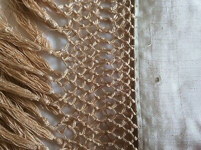 Beautiful Antique Chinese Silk Shawl with Deep Fringing.
