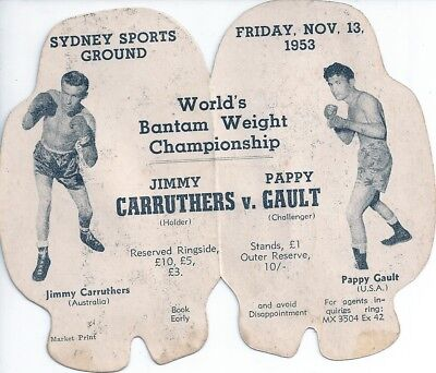JIMMY CARRUTHERS v PAPPY GAULT - Boxing Glove Promo Card